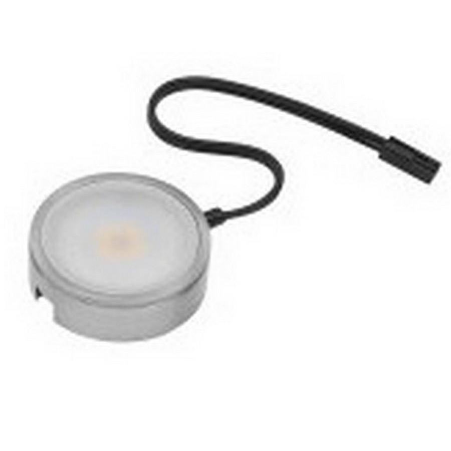 Pockit 120-M LED Puck Light Warm White Non-Linkable Nickel Tresco L-MPOC-4W-120NL-WNI-1