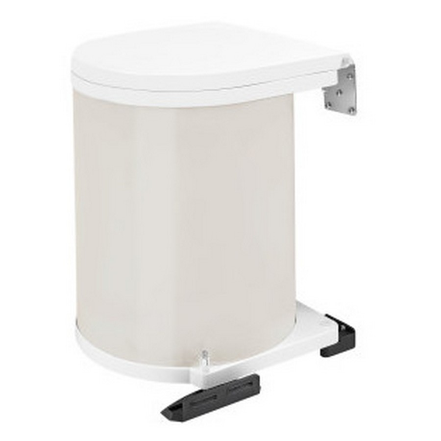 14 Liter Pivot Out Waste Container White Rev-A-Shelf 8-010212-14