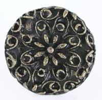 Emenee OR159ABS, Knob, Large Flower Filigree, Antique Bright Silver