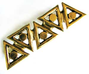 Emenee OR198ABB, Handle, Triangle, Antique Bright Brass