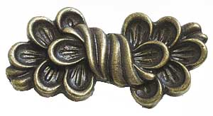 Emenee OR310ABR, Pull, Fleurish, Antique Matte Brass
