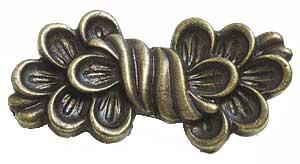Emenee OR310ABS, Pull, Fleurish, Antique Bright Silver