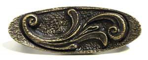 Emenee OR311ACO, Pull, Elegant Oval, Antique Matte Copper