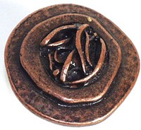 Emenee OR110AMS, Knob, Freeform Bone, Antique Matte Silver