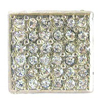 Emenee OR167BG, Knob, Small Square Rhinestone, Bright Gold