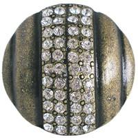 Emenee OR171BG, Knob, Large Round Rhinestone, Bright Gold