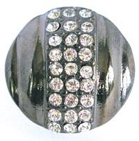 Emenee OR172BS, Knob, Small Round Rhinestone, Bright Silver