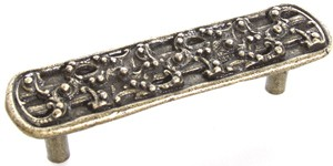 Emenee OR184ABS, Pull, Design, Antique Bright Silver