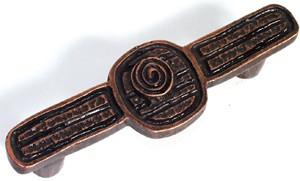Emenee OR193ABS, Handle, Swirl Design, Antique Bright Silver