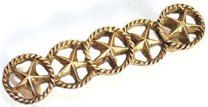 Emenee OR202AMG, Handle, Star In Circle, Antique Matte Gold