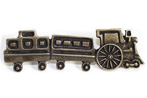 Emenee OR256ABB, Handle, Train, Antique Bright Brass