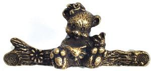 Emenee OR258ABR, Handle, Bear, Antique Matte Brass