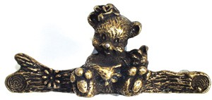 Emenee OR258AMG, Handle, Bear, Antique Matte Gold