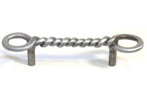 Emenee OR296ABS, Pull, Twisted Wire, Antique Bright Silver
