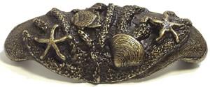 Emenee OR304AMG, Pull, Sea Life Bin, Antique Matte Gold