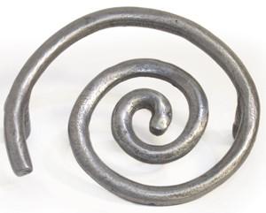 Emenee OR322ABR, Pull, Solid Swirl, Antique Matte Brass