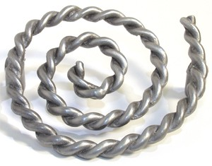 Emenee OR326AMS, Pull, Rope Swirl, Antique Matte Silver