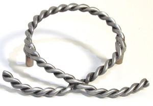 Emenee OR327AMS, Pull, Rope Open, Antique Matte Silver