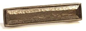 Emenee OR366AMS, Handle, Hammered, Antique Matte Silver