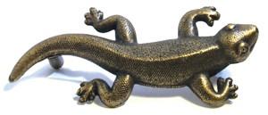 Emenee OR368ABR, Handle, Gecko, Antique Matte Brass
