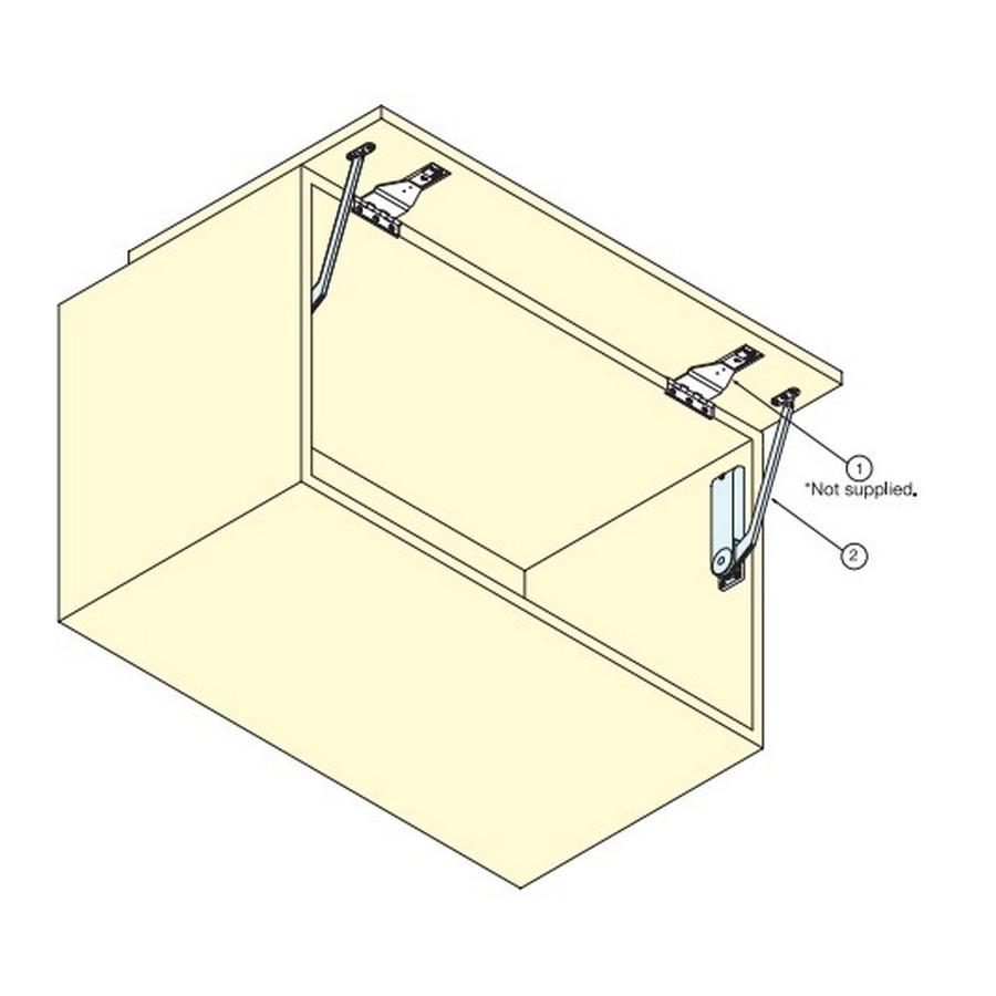OVN Soft-Close Mechanism RH for 11-15 lbs Sugatsune OVN-5R/BLK