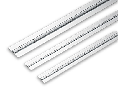 "LSN 1-1/4"" Weld-On Piano Hinge 17-23/32"" L Stainless Steel Sugatsune LSN15-32-450"