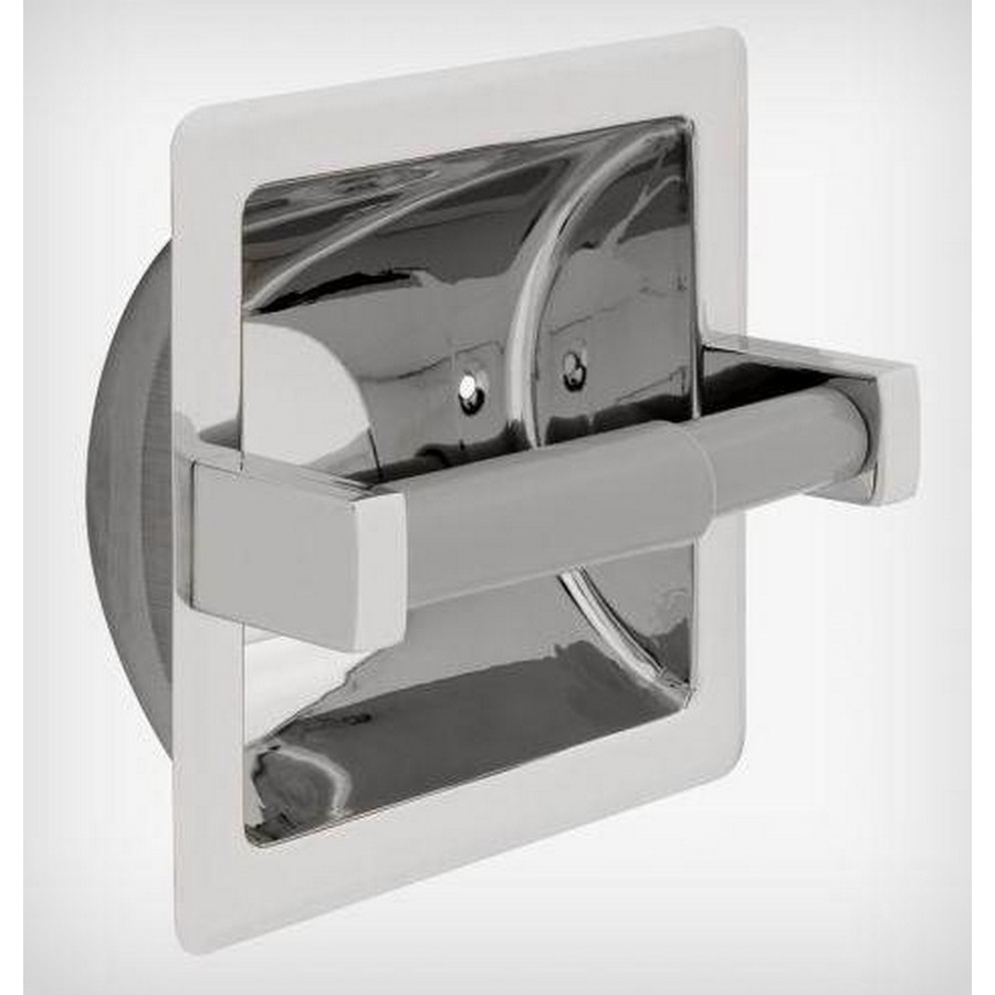 Century Recessed Tissue Roll Holder Bright Stainless Steel Liberty 5567B