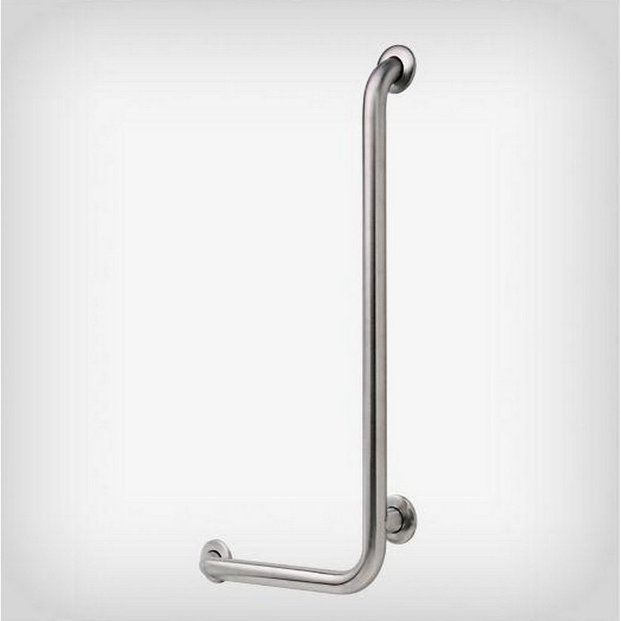 """32"""" X 16"""" X 1-1/2"""" 90 Degree Right Angled Grab Bar Stainless Steel Liberty 5682RH"""