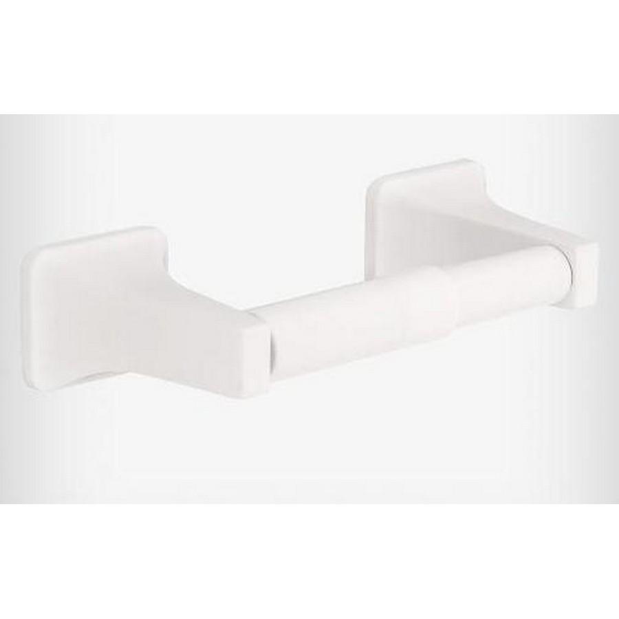 Futura Double Post Tissue Roll Holder White Liberty D2408W