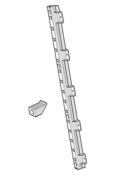 "Quicktray Pilaster Side Mounting Bracket System 1-1/4"" White Tenn-Tex B-522-00"
