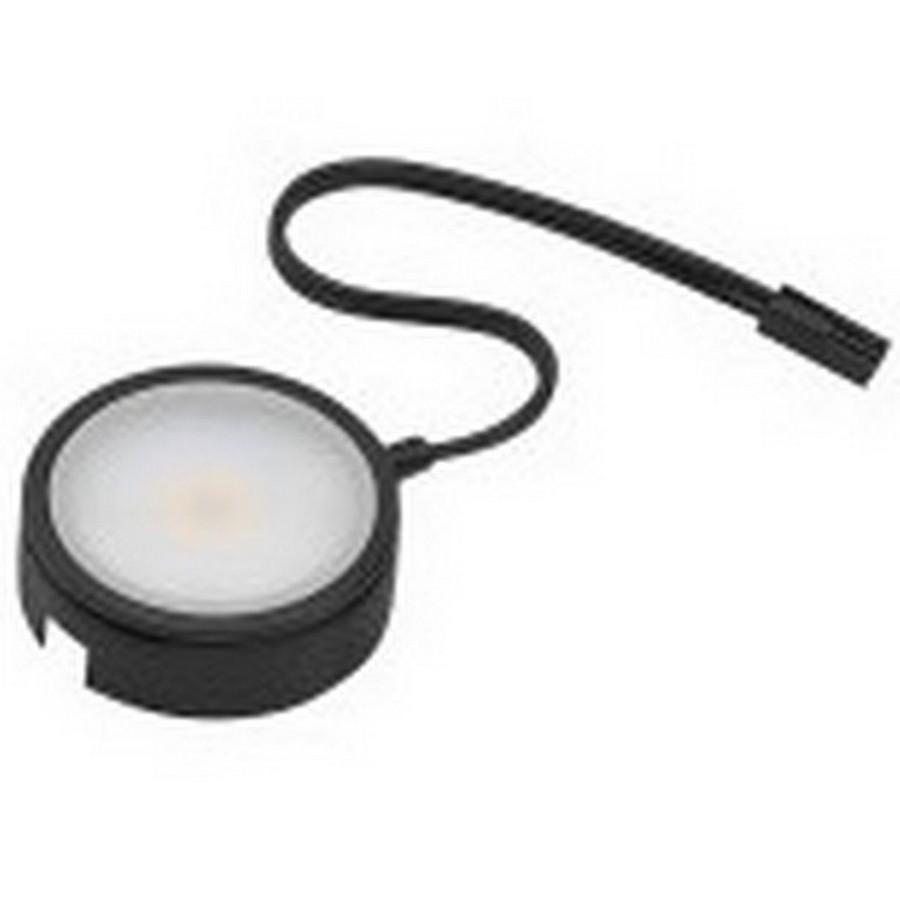 Pockit 120-M LED Puck Light Warm White Non-Linkable Black Tresco L-MPOC-4W-120NL-WBL-1