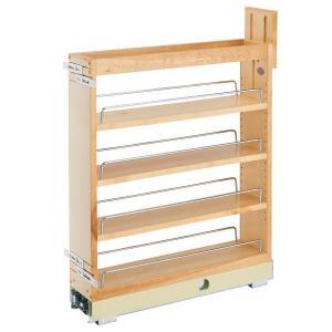 "5"" Base Cabinet Organizer with Soft-Close Maple Rev-A-Shelf 448-BCBBSC-5C"