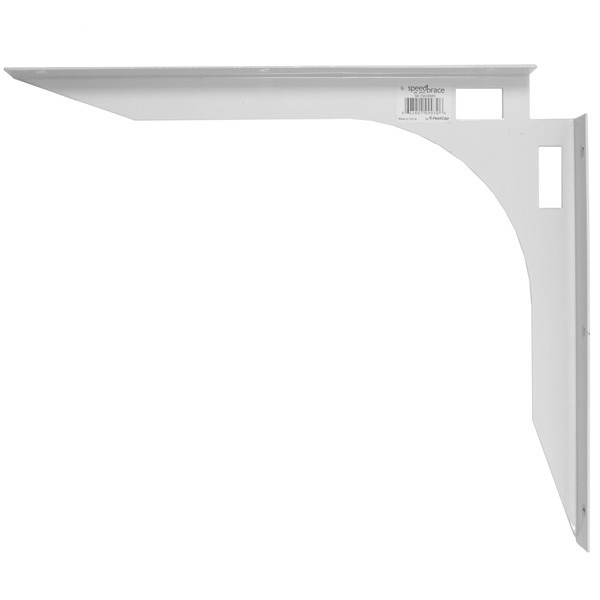 "FastCap SB-5X8WH, 5""x8"" SpeedBrace Workstation Bracket, 5""x8"" White, Packed 1"