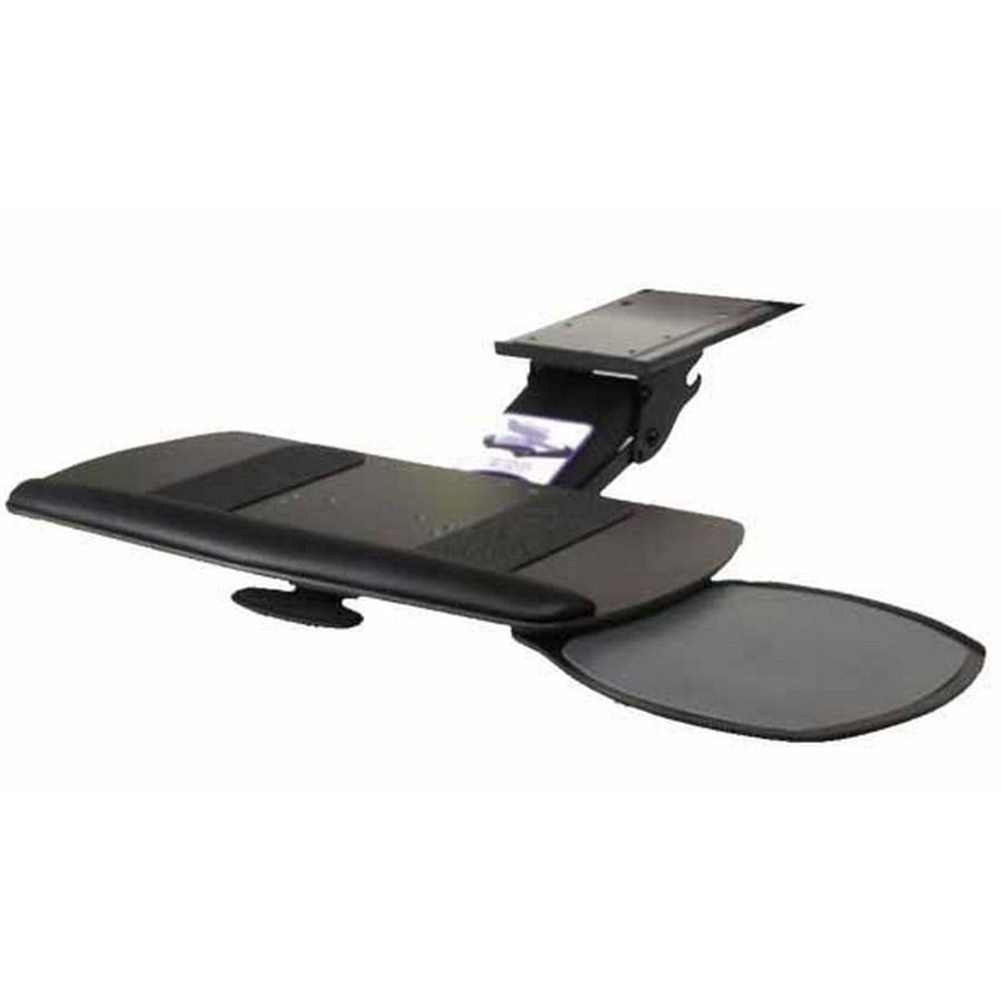 Keyboard Arm with Palm Rest and Single Swivel Out Mouse Black Knape and Vogt SD-15-21