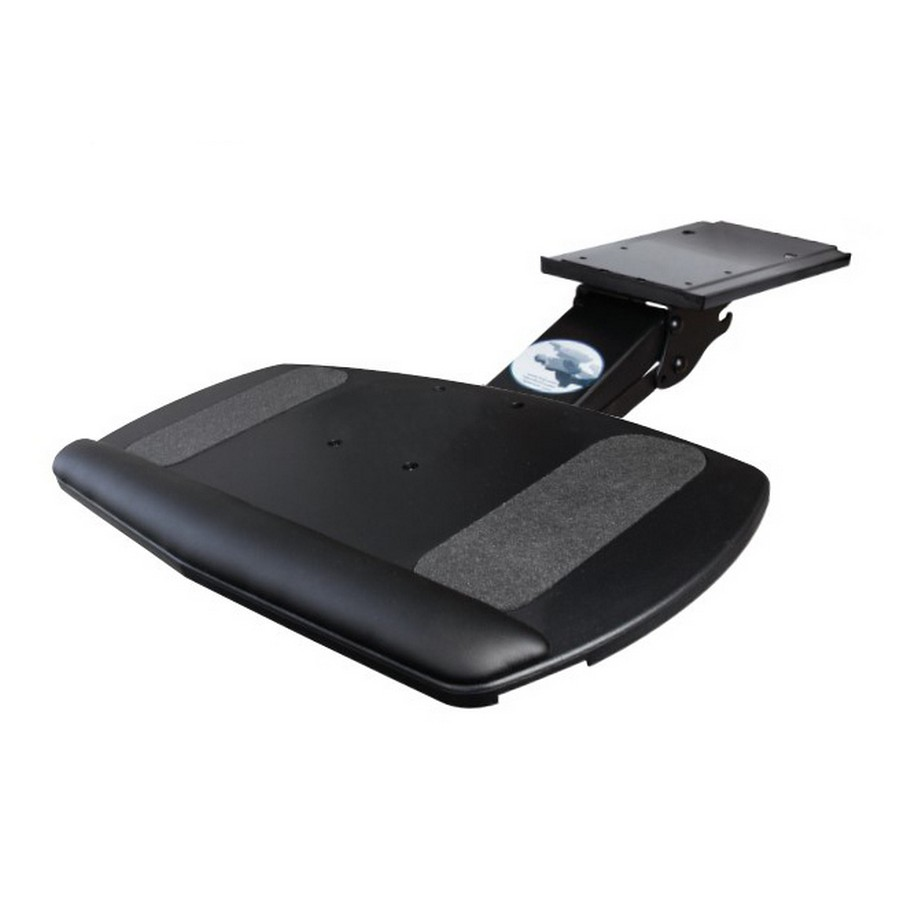 Adjustable Keyboard Arm with Comfort Keyboard Tray Black Knape and Vogt SD-2