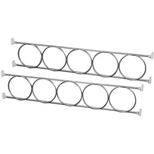 KV WR23.62-FN, 23-5/8 Wine Bottle Rack, KV Series, Frosted Nickel, 5 Rings on the Rack, 23-5/8 L X 4-1/4 H, Knape and Vogt