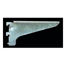 Reeve 723-C-12, 12in 723 Series Single Slotted Flanged Center Shelf Bracket, Zinc