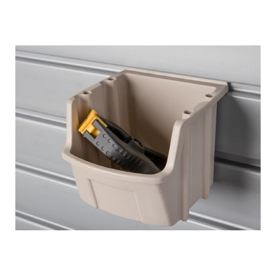"HandiACCESSORIES Individual Storage Bin 4-1/2"" x 5"" x 5-1/2"" Taupe HandiSOLUTIONS HSPUB"