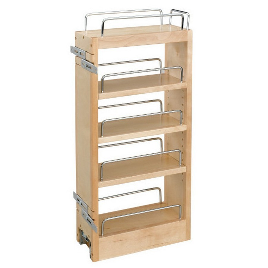 Rev-A-Shelf 448-HP-523C 5in Wood Hood Wall Cabinet Pull-Out Organizer