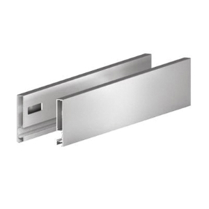 "Grass F135135083207, Vionaro H249 21"" Drawer Side, Height 9-3/4"", Silver Gray"