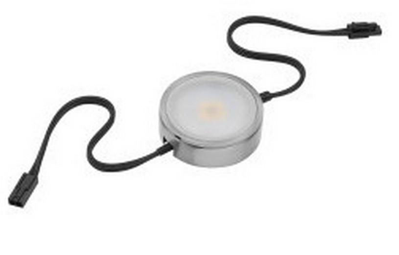 Pockit 120-M LED Puck Light Warm White Linkable Nickel Tresco L-MPOC-4W-120L-WNI-1