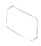 Right Hand Plastic Cover Cap for Grass Suspension Rail Bracket White Grass F155145039133