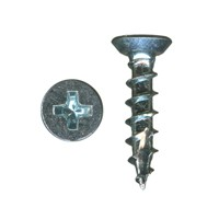 WE Preferred 6130, Hinge, Slide & Hardware Screw, Undercut Flat Head Phillips Drv, Type 17 Auger Pt, Coarse Thread, 5/8 x 6, Zinc, Bulk-1000