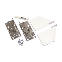 Rev-A-Shelf 6552-97-11-4, Pivot Hinges & White End Caps, Bulk Deep Depth Series Polymer Sink Tip-Out Trays