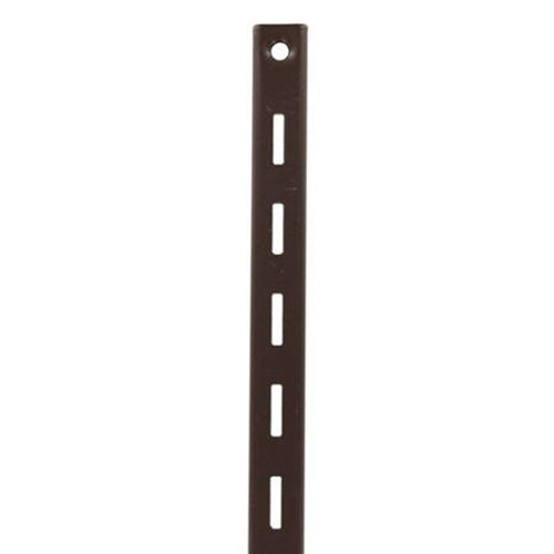 KV 80 BN 48, 48in 80 Series Single Slotted Shelf Standard, Brown, Knape and Vogt