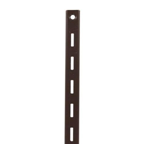 KV 80 BN 72, 72in 80 Series Single Slotted Shelf Standard, Brown, Knape and Vogt