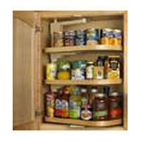 Hoffco BVI160, 21 W Wood Rotary Lazy Susan, Hoffco Reverse-A-Rack Series, Wood, 10-3/16 D x 18 W, Fits Cabinet size 21in