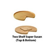 Omega National T8332K30MNL1, 32in Wood Kidney Shaped Lazy Susan, Select Series, Wood, (2) Shelves with Swivel Bearing