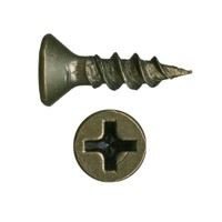 WE Preferred 1MFXA06058R2E (41300) Hinge, Slide & Hardware Screw, Flat Head Phillips, Sharp Pt, Fine, 5/8 x 6, Antique English, Bulk-1000
