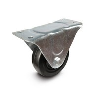 DH Casters C-GD40HRR, Plate Mount Swivel & Rigid Caster, Medium Duty, 4in, 300lb Capacity, Plate Size 2-3/4 x 6in
